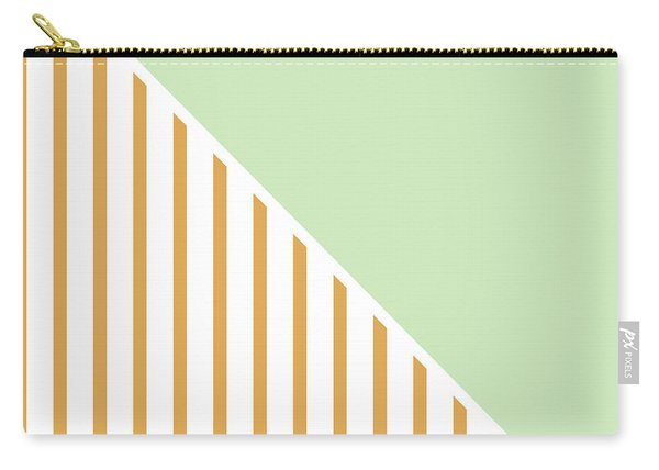 Mint And Gold Geometric Carry-all Pouch