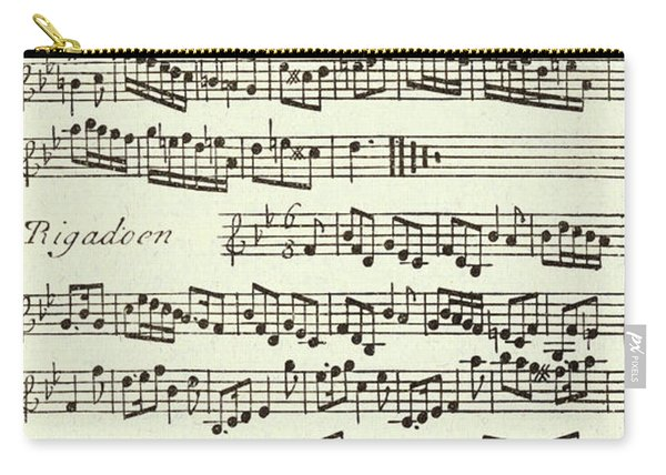 Minuet Music Score For The Violin Published 1731 Carry-all Pouch