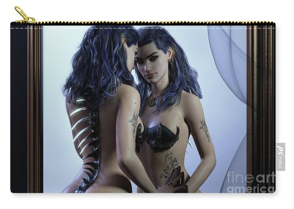 Mirror Cropped Carry-all Pouch