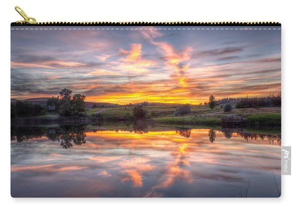 Mirror Lake Sunset Carry-all Pouch