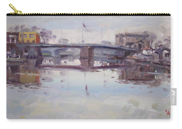 Mirror Reflection Of Gateway Harbor Carry-all Pouch