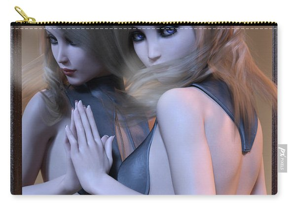 Mirrored Gaze Carry-all Pouch