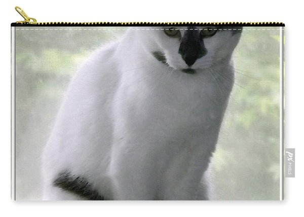 Miss Jerrie Cat With Watercolor Effect Carry-all Pouch