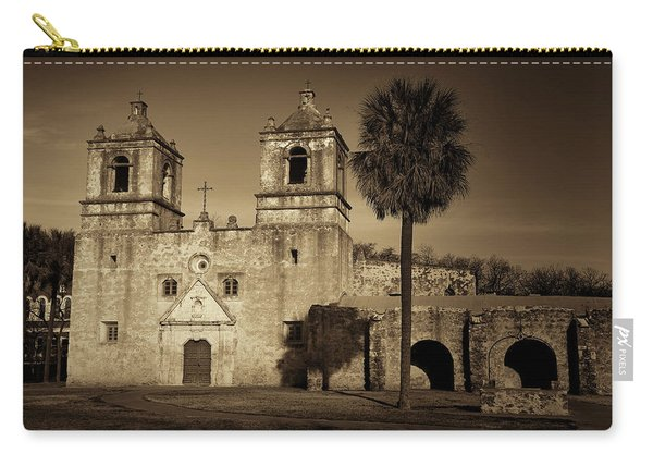 Mission Concepcion -- Sepia Carry-all Pouch