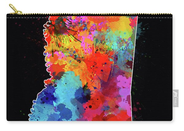 Mississippi Map Color Splatter 2 Carry-all Pouch