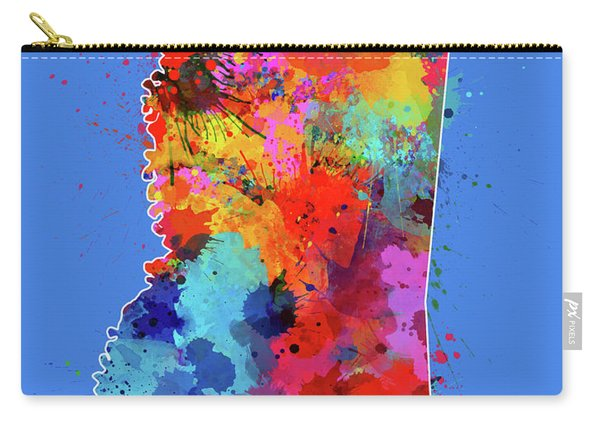 Mississippi Map Color Splatter 3 Carry-all Pouch