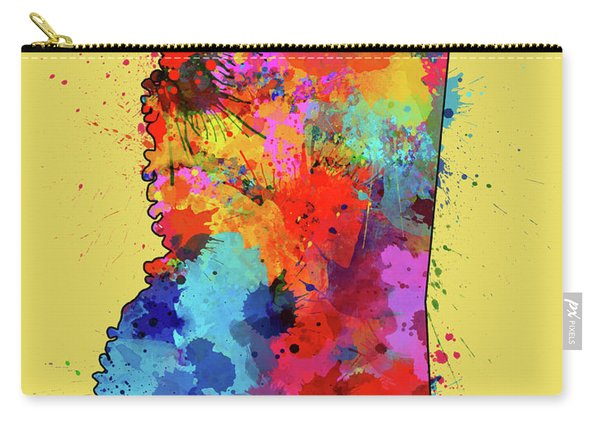 Mississippi Map Color Splatter 4 Carry-all Pouch