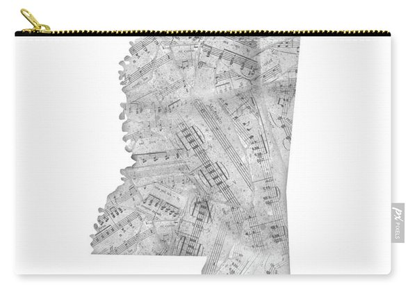 Mississippi Map Music Notes Carry-all Pouch