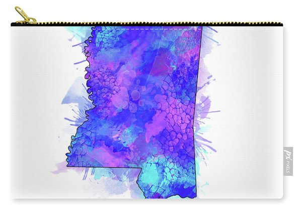 Mississippi Map Watercolor 2 Carry-all Pouch