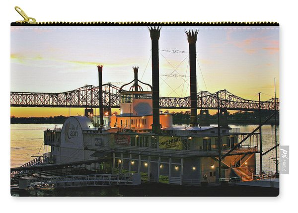 Mississippi Riverboat Sunset Carry-all Pouch
