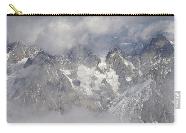 Mist And Clouds At Auiguille Du Midi Carry-all Pouch