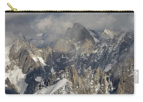 Mist And Light At Aiguille Du Midi Carry-all Pouch