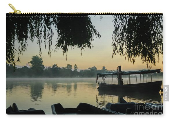 Mist Lake Silhouette Carry-all Pouch