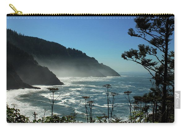 Misty Coast At Heceta Head Carry-all Pouch
