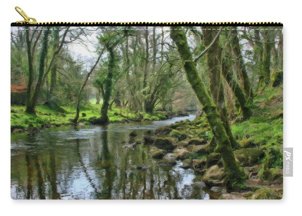 Misty Day On River Teign - P4a16017 Carry-all Pouch