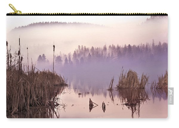 Misty Morning At Vaseux Lake Carry-all Pouch