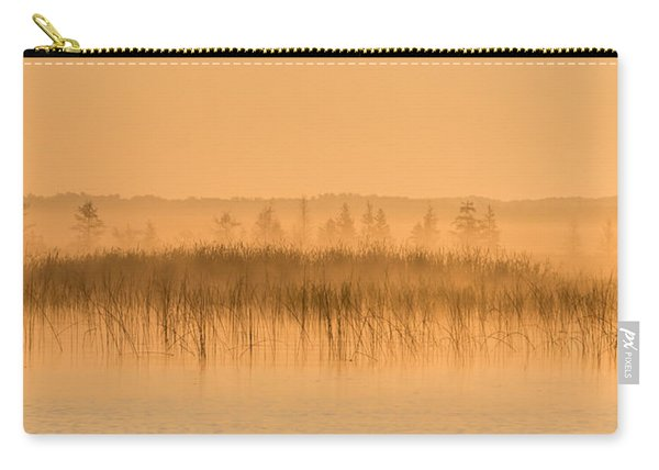 Misty Morning Floating Bog Island On Boy Lake Carry-all Pouch