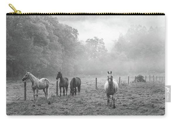 Misty Morning Horses Carry-all Pouch