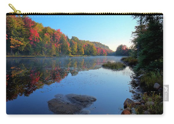 Misty Morning On The Pond Carry-all Pouch