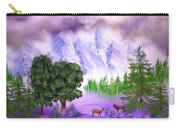 Misty Mountain Deer Carry-all Pouch