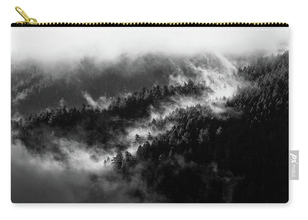 Carry-all Pouch featuring the photograph Misty Mountain Pines by Michael Hope