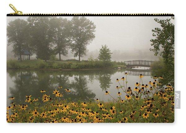 Misty Pond Bridge Reflection #3 Carry-all Pouch