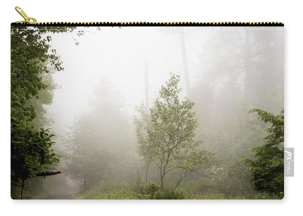 Misty Road At Forest Edge, Pocono Mountains, Pennsylvania Carry-all Pouch