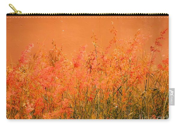 Misty Yellow Hue- Pink Blooms Carry-all Pouch