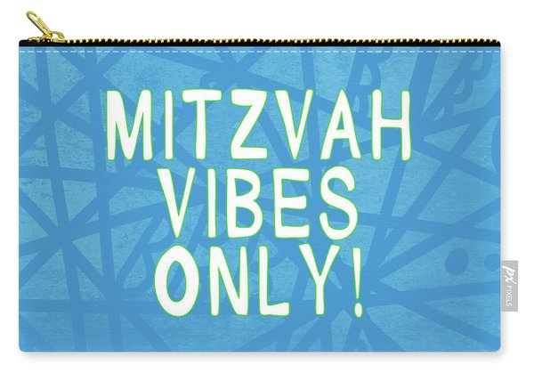 Mitzvah Vibes Only Blue Print- Art By Linda Woods Carry-all Pouch