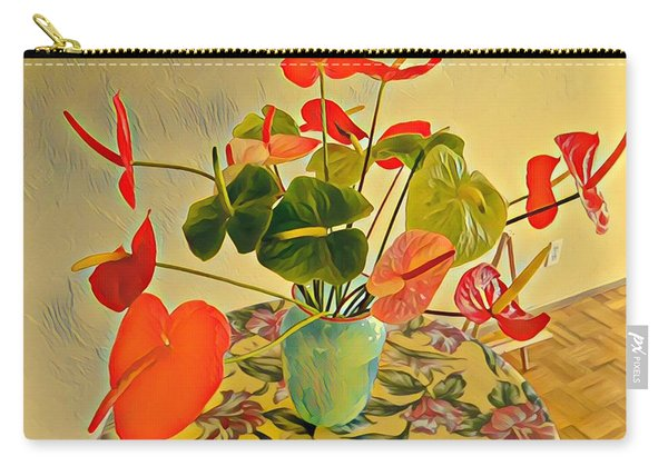 Mixed Aloha Anthuriums Matisse Carry-all Pouch