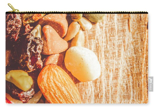 Mixed Nuts On Wooden Background Carry-all Pouch