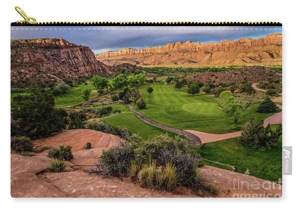 Moab Desert Canyon Golf Course At Sunrise Carry-all Pouch