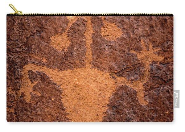 Moab Man Petroglyph Portrait - Utah Carry-all Pouch