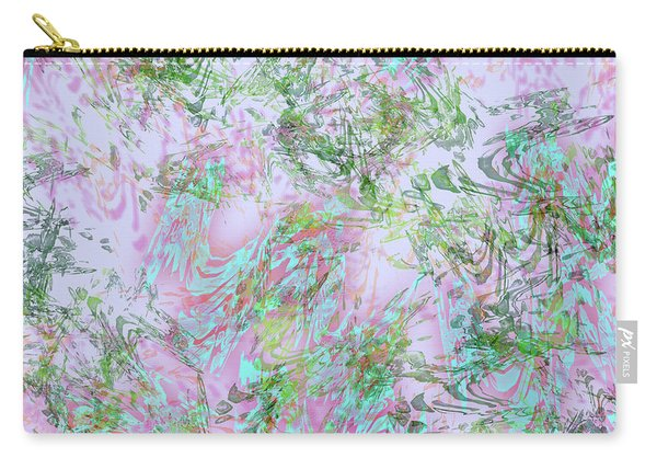 Mock Floral Purple Teal Carry-all Pouch