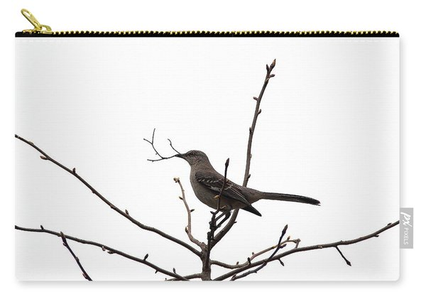 Mockingbird With Twig Carry-all Pouch
