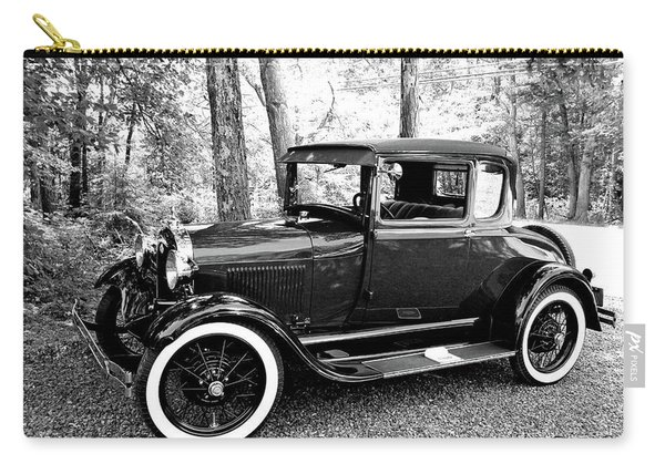 Model A In Black And White Carry-all Pouch