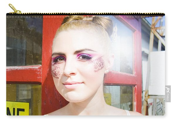 Model In Lace Makeup Carry-all Pouch