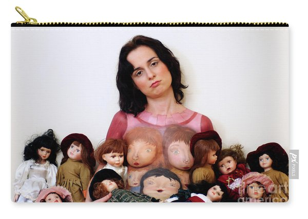 Model With Porcelain Dolls 2 Carry-all Pouch