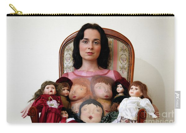 Model With Porcelain Dolls Carry-all Pouch
