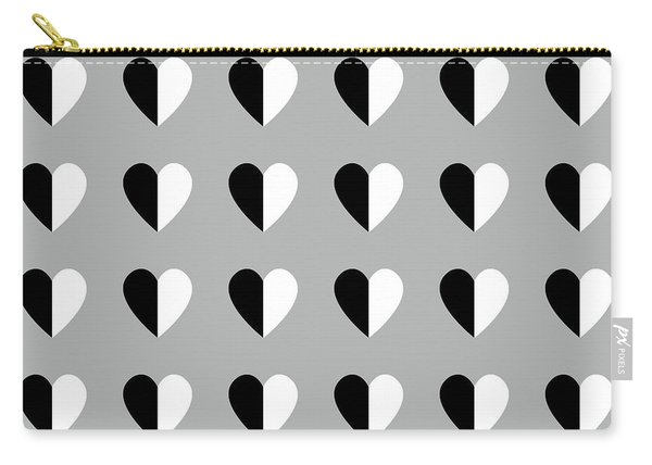 Modern Hearts- Art By Linda Woods Carry-all Pouch