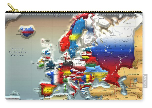 Modern Portrait Of Modern Europe - 3d Carry-all Pouch