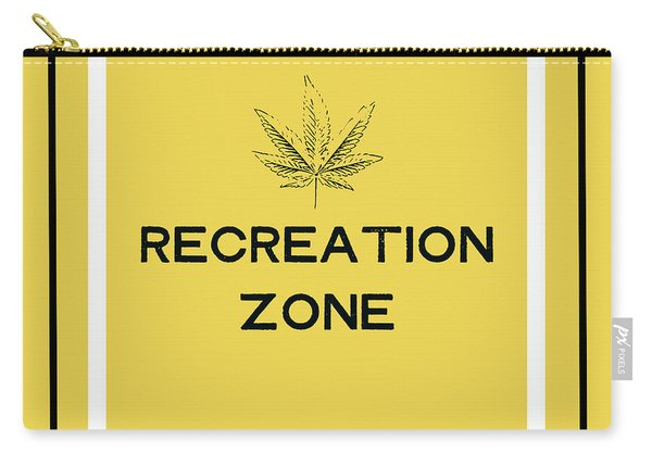 Modern Recreation Zone Sign- Art By Linda Woods Carry-all Pouch