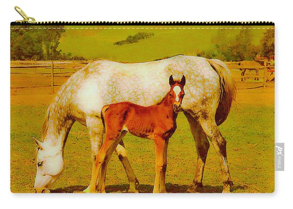 Mom And Me Carry-all Pouch