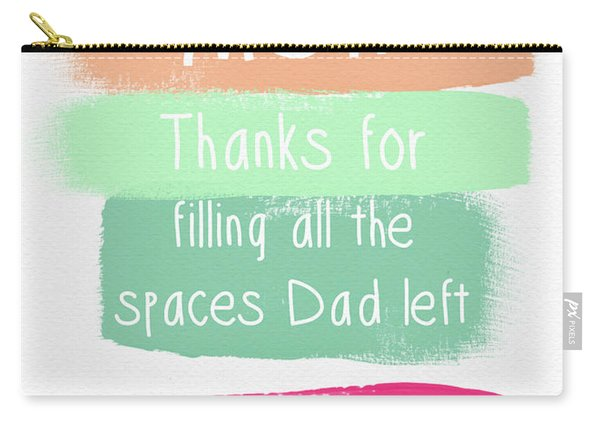 Mom On Father's Day- Greeting Card Carry-all Pouch