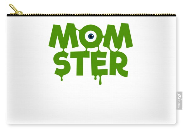 Momster Halloween Funny Monster For Mom And Women Humor Halloween Easy Costume Office Parties Carry-all Pouch