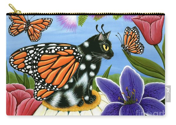 Monarch Butterfly Fairy Cat Carry-all Pouch