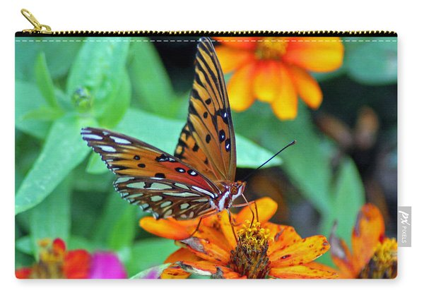 Monarch Butterfly Resting Carry-all Pouch