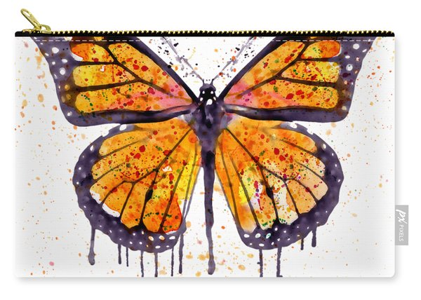Monarch Butterfly Watercolor Carry-all Pouch