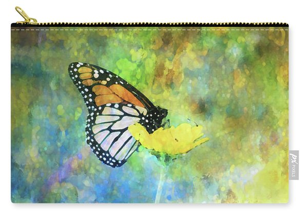 Monarch In Azure And Gold 5647 Idp_2 Carry-all Pouch