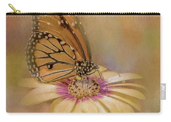 Monarch On A Daisy Mum Carry-all Pouch